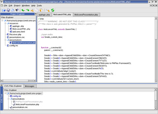 Snapshot of the IDE